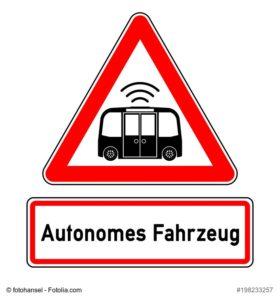 Autonomes Fahren-Verkehrsschild